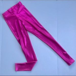 BlackMilk Metallic Pink Leggings